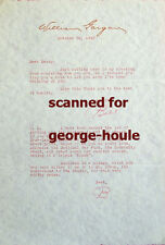 WILLIAM GARGAN - TYPED LETTER - SIGNED - 1943 - DECTECTIVE  MARTIN KANE