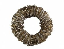Gisela Graham Gold Twig and Diamante Christmas Wreath - Elegant Door Wreath