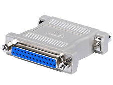 DB25 Parallel Port Null Modem Adapter F/F Female/Female Gender Changer Adaptor
