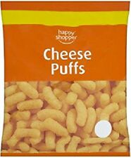 FULL CASE OF 14 HAPPY SHOPPER CHEESE PUFFS SNACKS 75G BAGS LUNCHBOXES SCHOOL