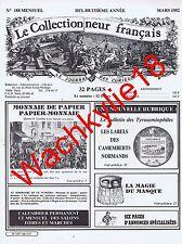 Le collectionneur français 188 - 03/1982 Papier monnaie Simplicissimus camembert