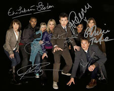 Dr Who Group Signed 8X10 Photo Rp David Tennant Billie Piper 7 Autos Clarke Tate