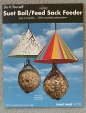 New Cone Suet Ball / Feed Sack Feeder 1 ea. Tree Branch print & Stripes