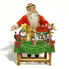24 Father Christmas at his 3D Festive Table Christmas Cards