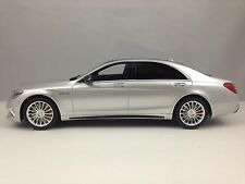 GT Spirit Mercedes Benz S65 AMG S Class Sedan Silver Resin Model 1/18 L.E.