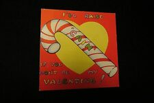 """Vintage CANDY """"CAIN"""" Valentine Card c. 1940s"""