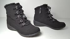 $99 size 8 Khombu Alexa Winter Black Wedge Lace Up Ankle Boots Womens Shoes