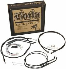 "Burly Extended Cable Line Kit 14"" Apehanger Bars Harley Sportster 883/1200"