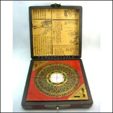 """Vintage Feng Shui Luo Pan Chinese Compass W. Case 7"""""""