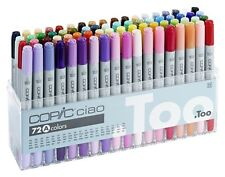 COPIC CIAO MARKER - 72A PEN SET - TWIN TIPPED - 72 UNIQUE COLOURS - MANGA MARKER