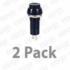 SPST (ON/OFF) BLACK PUSH BUTTON SWITCH ROUND 3AMPS @ 125VAC #66-2445-2PK