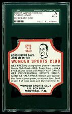 1960 -61 Wonder Bread Label End Gordie Howe NHL SGC Graded TOUGH! Red Wings