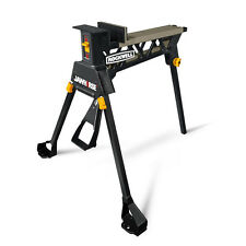 Portable Foldable Wheeled Steel Work Support Sawhorse Tool Saw Horse Tripod Base