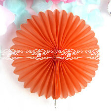 1 Pcs Handmade Easy 5 Size 19 Colors Paper Wheel Fan Wedding Party Decoration