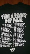 2 SIDED Alternative Punk Rock Band THE STORY SO FAR concert T-Shirt L blink 182