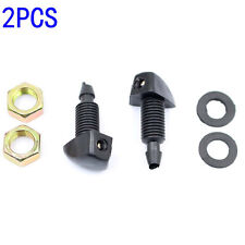 2Pcs Universal Windscreen Washer Jet Water Spray Nozzle Fit Vehicle Most Car New