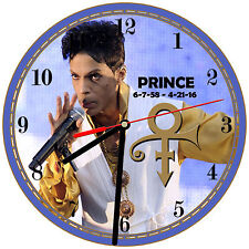 "8"" WALL CLOCK - PRINCE ROGERS NELSON #5 - Kitchen Office Bathroom Bar Bedroom"
