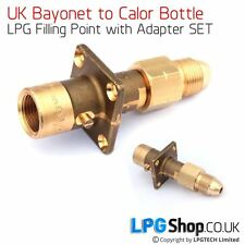 UK Bayonet LPG Filler to Calor Bottle Adapter SET (POL nut)
