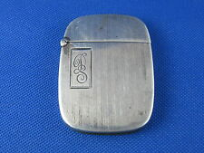 VINTAGE STERLING SILVER MATCH SAFE W/ INITIALS DS