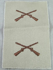 US Army Desert Tan Cloth Branch Insignia Infantry / Pair