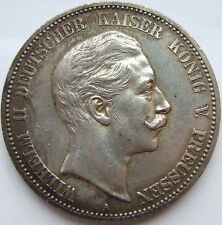 RARITY 5 MARK WILHELM II PRUSSIA 1906 A in EXTREMELY FINE/
