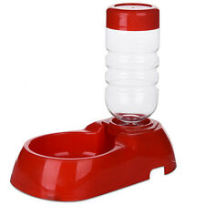 Pet Dog Cat Food Feeding Bowl Water Feeder Drinking Bottle Fountain Dish Supply
