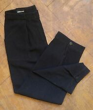 Vtg 90s GIORGIO ARMANI Black Crepe Cropped Jogger Trouser Pants Size 0 2 / 36 IT