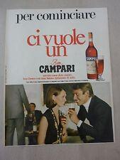 ADVERTISING PUBBLICITA' PER COMINCIARE CI VUOLE UN BITTER CAMPARI  -- 1969