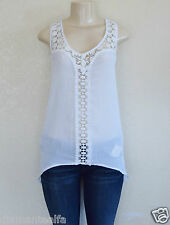 GUESS Women's Olivia Sleeveless Top – White sz XS