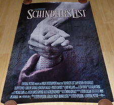 SCHINDLER'S LIST 1993 ORIGINAL ROLLED 1 SHEET MOVIE POSTER LIAM NEESON SPIELBERG
