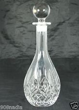 VINTAGE CUT GLASS OR CRYSTAL WINE,VODKA,WHISKEY DECANTER/STOPPER 13'' TALL