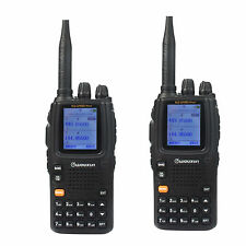 2X New Portable Wouxun Dual Band UHF/VHF KG-UV9D(Plus) FM 2Way Radio Receiver