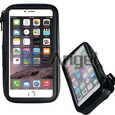 """Waterproof Case + Motorcycle Bicycle Handlebar Holder Mount for 5.7"""" Cell Phone"""