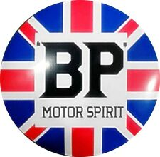 BP Motor Spirit large round metal sign       400mm diameter    (ff)