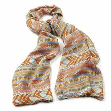 VINTAGE STYLE AZTEC PRINT LONG MAXI WRAP SCARF COVER UP
