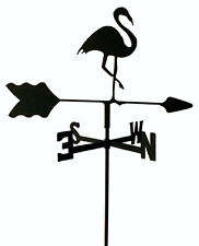 FLAMINGO  GARDEN STYLE WEATHERVANE BLACK WROUGHT IRON LOOK MADE IN USA TLS1019IN