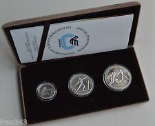 GRECIA GREECE 100 250 & 500 drachmai 1981 EUROPEAN GAMES 1982 PROOF SET