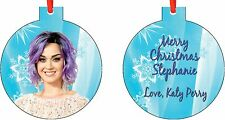 Personalized Katy Perry 2 Ornament ( Add Any Message You Want)