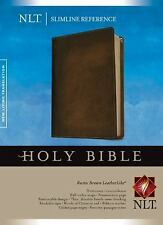 NLT Slimline Reference Bible (Rustic Brown Leather Like)