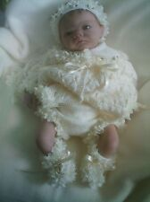 "KNITTING PATTERN 4 PIECE MATINEE SET BABY 0-3 MTHS REBORN DOLL 19-21"" No 24"
