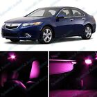 Pink Acura TSX Interior LED Package Deal 2009-2014 (8 Pieces) #603