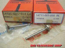 Honda C100 CA100 C102 C105 C110 CA110 C111C115 Valve Inlet + Exhaust //  JAPAN
