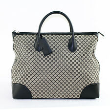 NEW $1695 GUCCI Black DIAMANTE Canvas LEATHER CARRY ALL Large FALL TRAVEL BAG