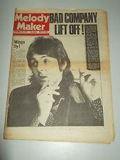 MELODY MAKER 1974 NOVEMBER 30 WINGS BAD COMPANY LYNARD SKYNARD HAWKIND