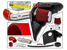 "3.5"" RED Heat Shield Cold Air Intake Kit + Filter For 12-15 Camaro 3.6L V6"