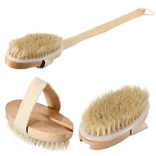 Natural Wooden Bath Shower Body Back Brush Spa Scrubber