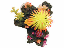 Colourful Sucker Mounted Coral Reef & Anemone Fish Tank Cave Aquarium Ornament