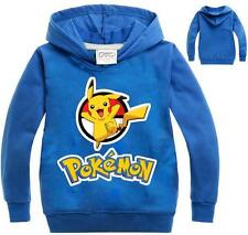 Unisex Sweatshirt POKEMON GO Hoodie Kids Boys Girls Long Sleeve T-Shirts 5-6Year