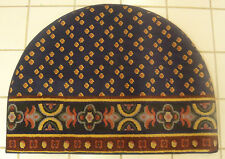 """Slice Shaped Floor Mat Area Rug Gold Red Blue Colors 25"""" x 34"""" (W)"""