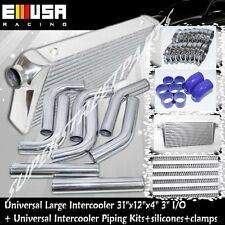 """3"""" LARGE INTERCOOLER & PIPING For Acura BMW Audi Honda CRX Del Sol Fit S13 S14"""